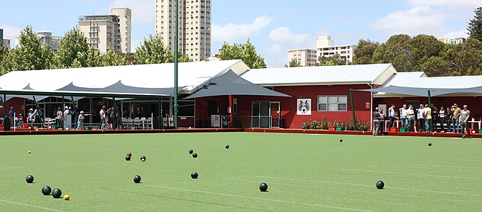 Corporate bowling at South Perth Bowling Club