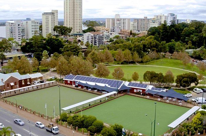 South Perth Bowling Club Drone Shot