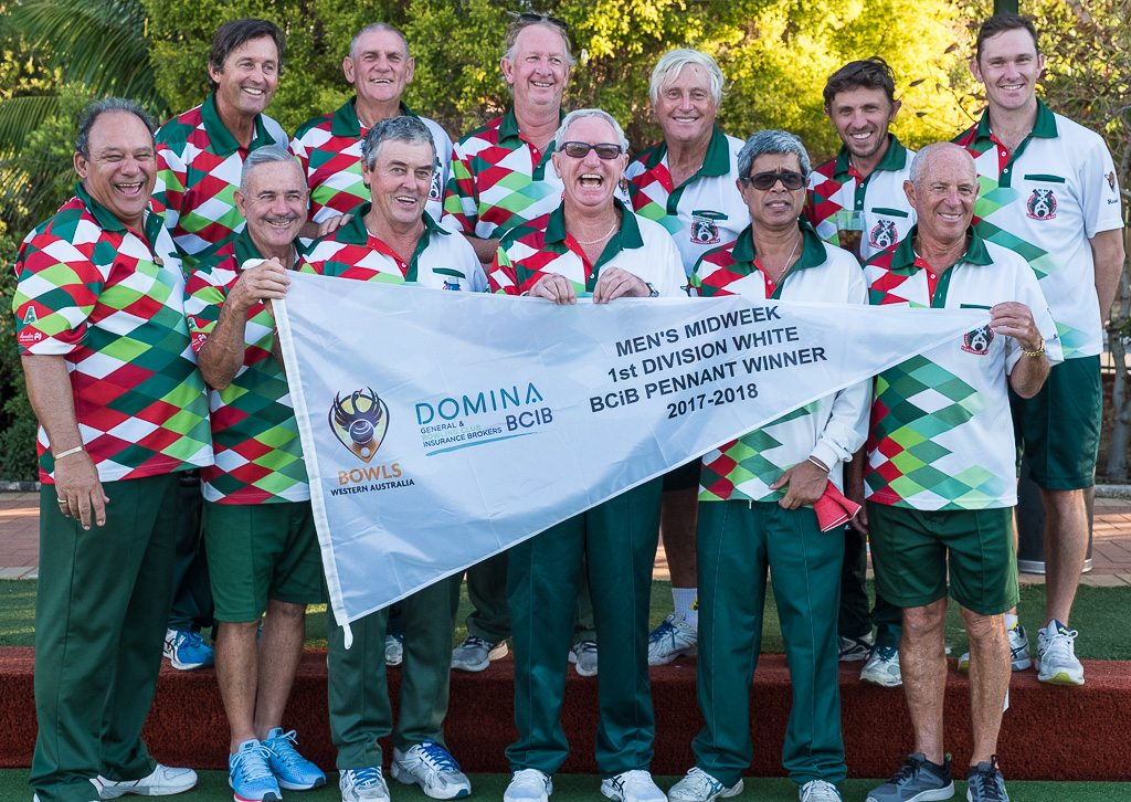 South Perth Bowling Club 1 White Pennant Winners
