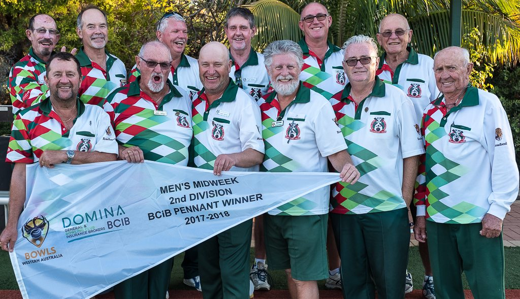 South Perth Bowling Club 2nd Division Pennant Winners